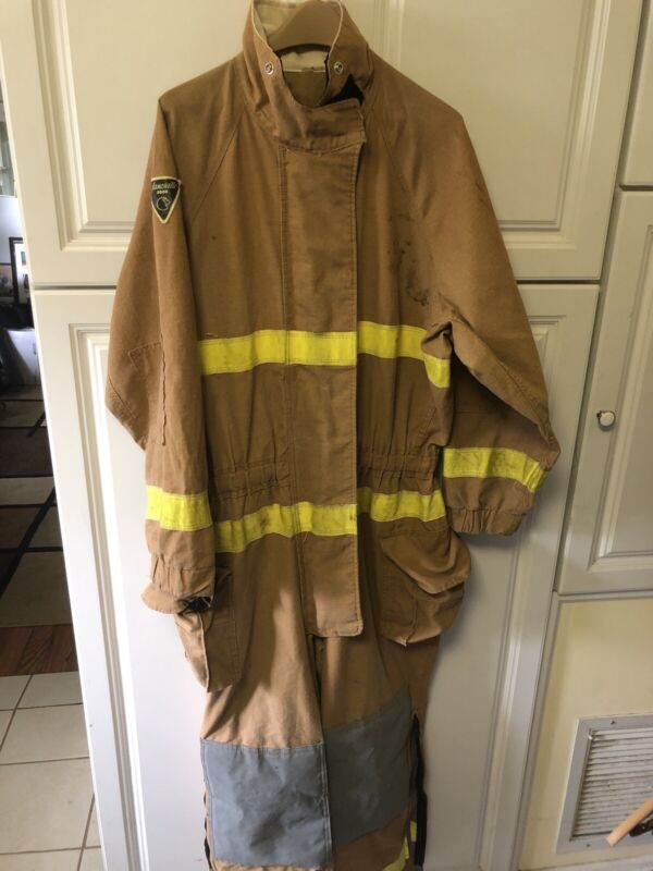 Lion Janesville 2000 Kev/PBI firefighter turnout bunker Jumpsuit Large NAVY2K=50