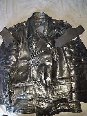 Vintage Philadelphia Police  Highway Patrol Leather Motorcycle Jacket