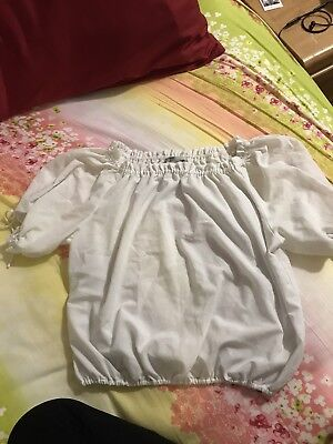 Old Navy White Blouse bow tie sleeves Old Navy Bow Tie