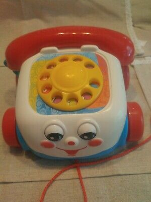 Classic Chatter Telephone - Price Mattel 2000 Chatter Phone Pull Along Toy Classic Telephone.. Very clean