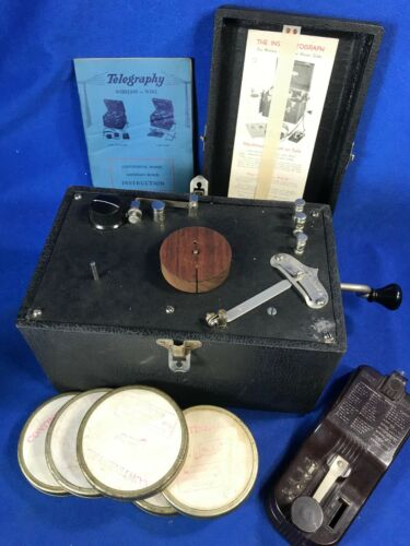 The Instructograph Wireless Morse Code Machine Trainer with Manual, Paper Tapes