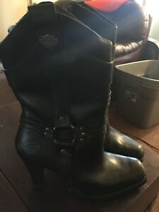 Harley Davidson leather bike boots