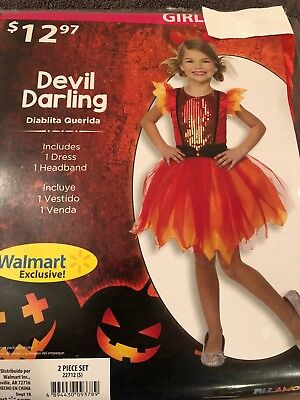 Devil Girl Halloween Costume (Halloween Costume Girls Devil Darling  Small, or)
