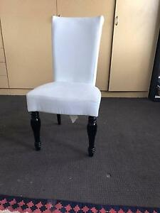 black and white leather dining chair Potts Point Inner Sydney Preview