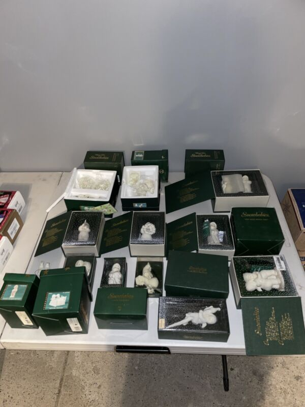 Snow Babies Christmas Ornaments Lot of 20 (In Original Boxes)