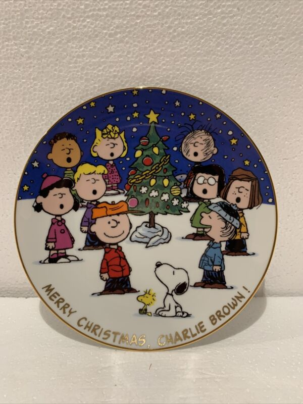"""Peanuts Magical Moments Plate """"Merry Christmas Charlie Brown!"""""""