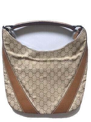 Gucci Handbag Purse Hobo Bag Guccissima Sherryline Shoulder Leather Vintage RARE