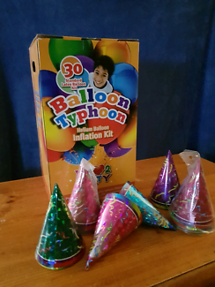 Brand New Helium Balloon Kit with 18 Party Hats