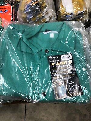 Tillman 6230 9oz Green Fr Cotton Welding Jacket - 4xl