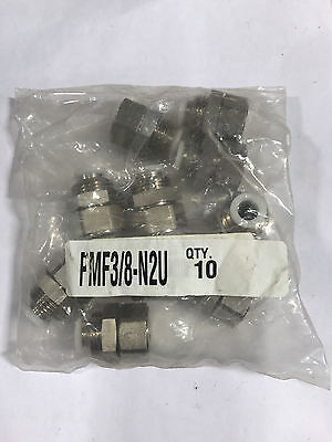 Pisco Pmf 38-n2u Bulkhead Female Straight 38 Tube Od 14 Npt Bags Of 10