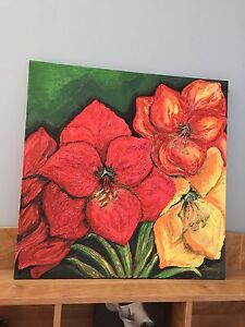 African lilies painting