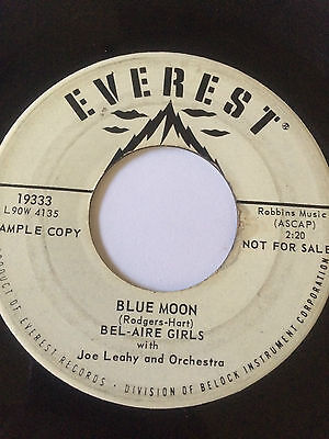 Girl Group Promo 45  Bel Aire Girls   Blue Moon     Hear