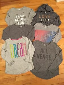 Girls long sleeve tops -- size 10/12