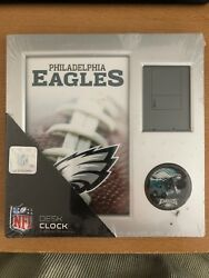 PHILADELPHIA EAGLES (1) Official NFL Team Logo Desk Alarm Clock New AS IS