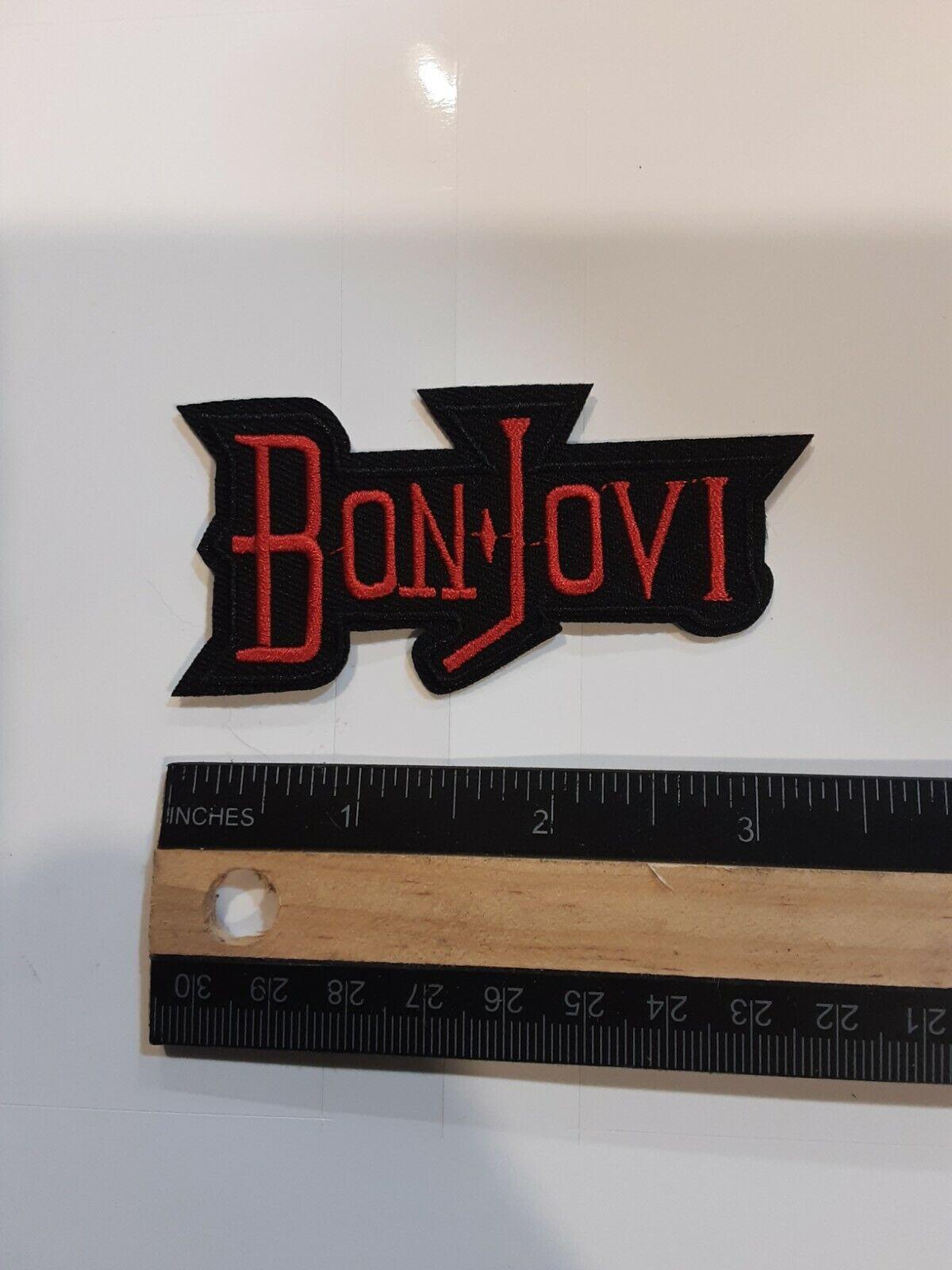 BON JOVI EMBROIDERED IRON ON PATCH  - $4.99