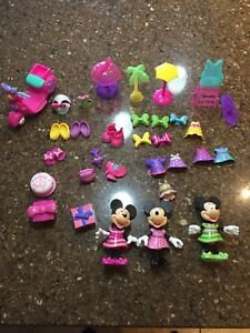 Minnie Mouse bowtique dress up doll lot