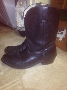 Men's Black Leather Cow Boy Boots $75 obo