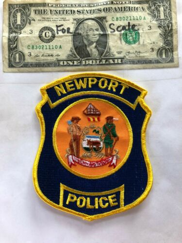 Newport Delaware Police Patch Un-sewn in great shape