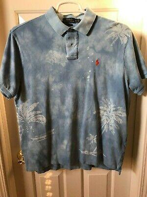 Polo Ralph Lauren Custom Slim Fit  Hawaiian Shirt Size XL Mens Floral Aloha EUC  Custom Hawaiian Shirt