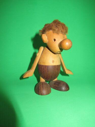 """Hans Bolling Denmark Strit Wooden Toy vtg Orskov Teak figure Troll Doll 5"""""""