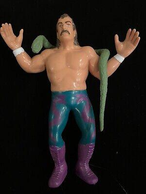 LJN Titan WWF Figure NEAR MINT CONDITION ! - Jake The Snake Roberts with Damien