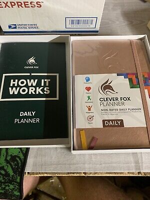Clever Fox Premium Edition - Undated Weekly Planner A5 5.8 X 8.3 Rose Gold.