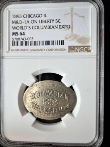 1893 M&D-1A Elongated 5c, World