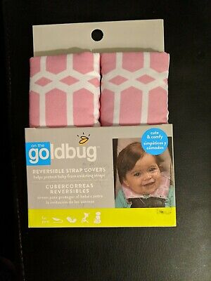 Goldbug Baby Car Seat Reversible Strap Covers, Cute & Comfy, NIP