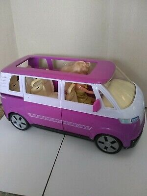 BARBIE CAMPER VAN, MATTEL,  2002,   Volkswagen with doll