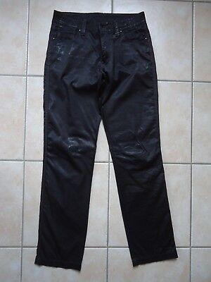 Gebraucht, Neuwertige Hose, leichter Glanz in schwarz Gr. 38 mit Steinen  gebraucht kaufen ace96174c2