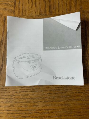 Brookstone Ultrasonic Jewelry Cleaner Product Manual