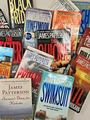 MIXED RANDOM LOT 12 books James Patterson Thriller Mystery no repeats FREE SHIP