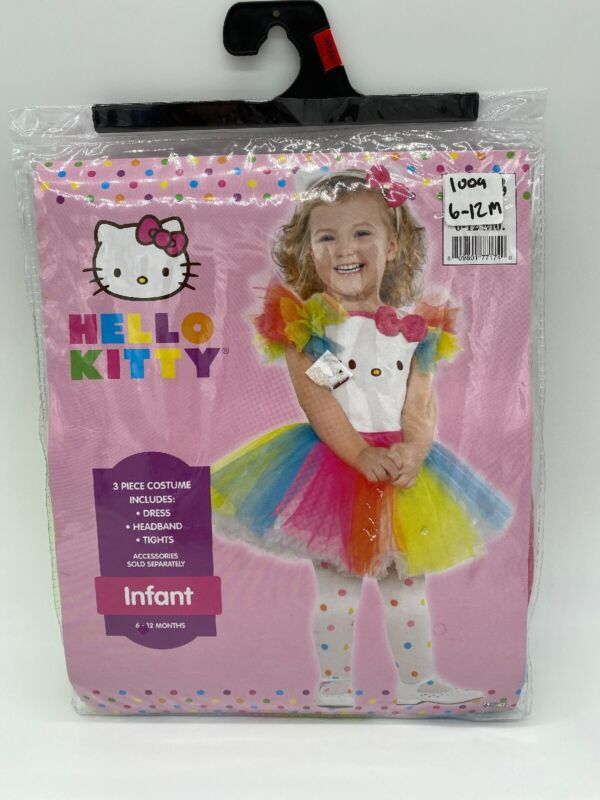 Infant Hello Kitty Halloween Costume New Size 6-12 Months Baby