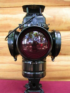 VINTAGE ADLAKE NON SWEATING RAILROAD SWITCH/CABOOSE LANTERN ALL ORIGINAL