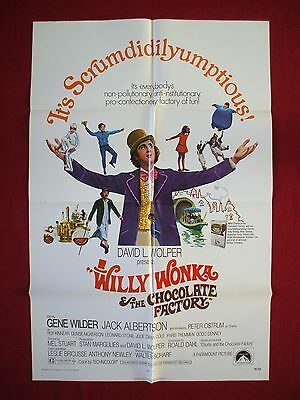WILLY WONKA AND THE CHOCOLATE FACTORY * 1971 ORIGINAL MOVIE POSTER GENE WILDER