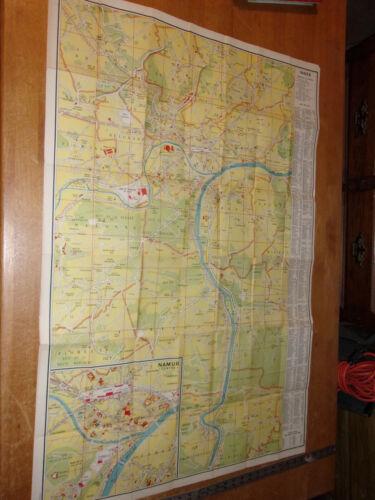 Vintage Map Of NAMUR Belgium (28-1/2 x 42 inches)