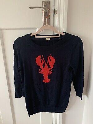 Barley Worn, J.CREW Women's Jumper, Lobster Detail, Light, 100% Cotton
