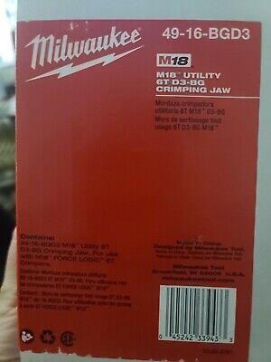 Milwaukee M18 utility 6T D3-BG crimping Jaw.