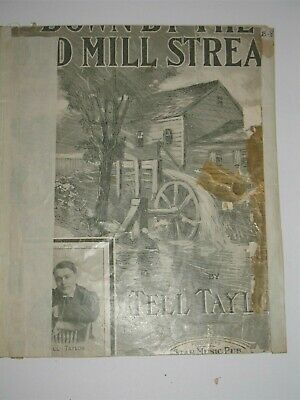 Vintage Sheet Music Down by The Old Mill Stream by Tell (Down By The Old Mill Stream Sheet Music)