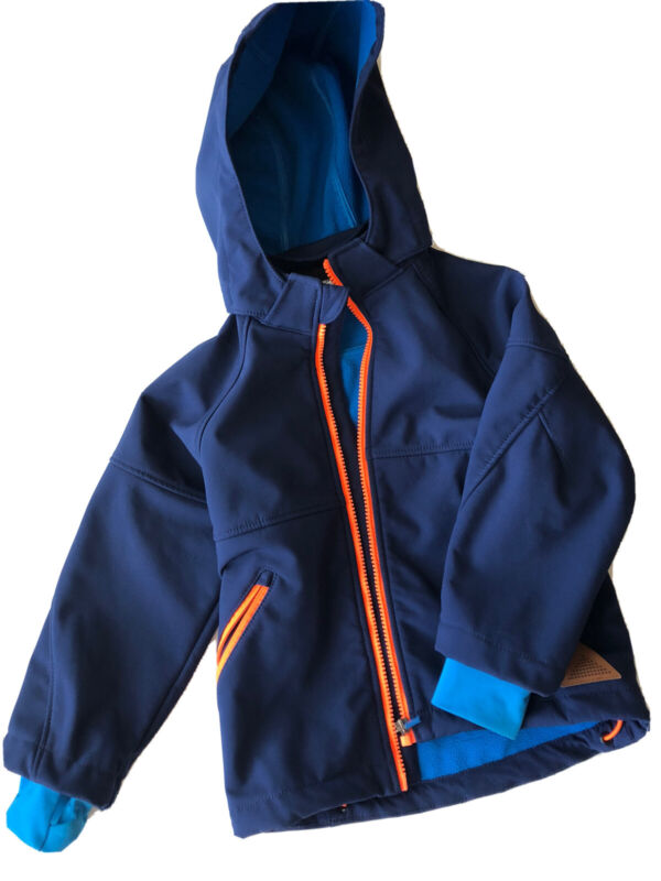 H&M Boys Jacket Size 3-4 Blue/Orange