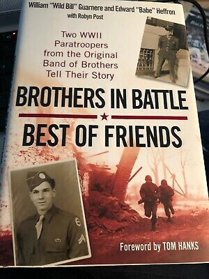 Bill GUARNERE and babe heffron Signed book band of brothers World War II