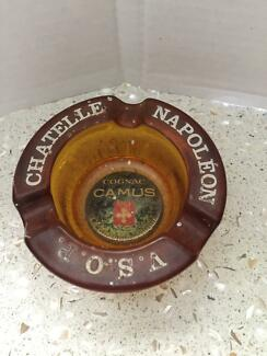 Ashtray Napoleon Camus Chantelle Amber glass