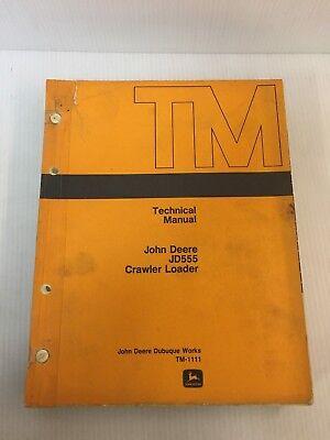 Jd555 John Deere Crawler Loader Technical Manual Book
