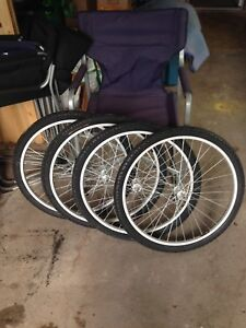 4 BRAND NEW BIKE TIRES & RIMS