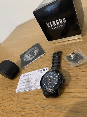 Versus Versace Chronograph Watch, Stainless Steel, Virtually Brand New