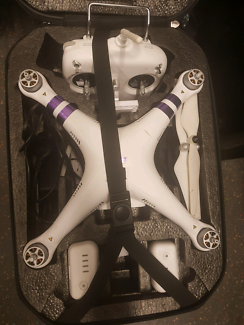Drone DJI Phantom 3 standard with Bait dropper attachment.