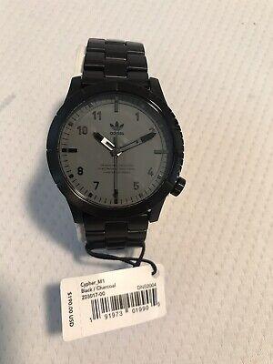 NEW Adidas Watch Cypher M1. Timepiece Black/Charcoal Z03017
