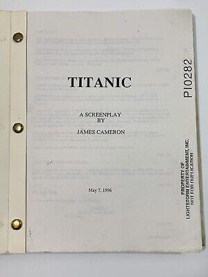 RARE- May 6, 1996 TITANIC Movie Script - James Cameron - LIGHTSTORM P10282