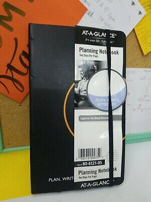 At-a-glance Plan. Write. Remember. Planning Notebook Two Days Per Page 5 18 X 8