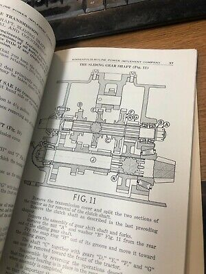 Minneapolis Moline Rt Tractor Operators Instruction Manual And Parts Catalog Rw